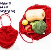 Red Cotton net shopping bag