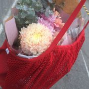 Our lovely Red bag with flowers